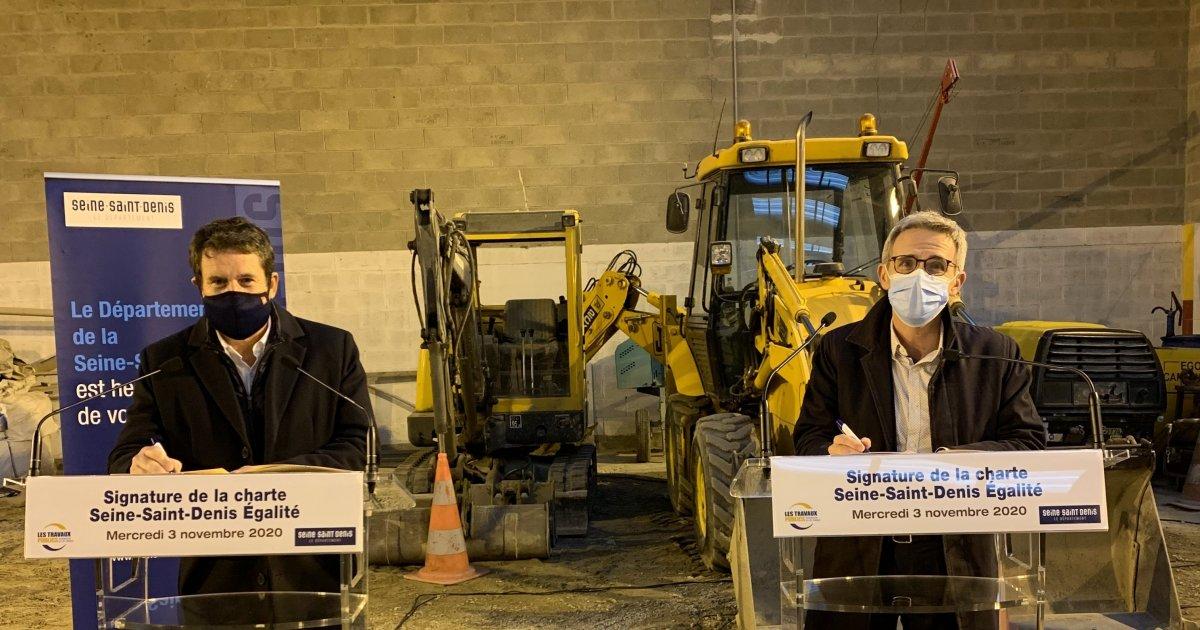 Le Département de Seine-Saint-Denis et la FRTP signent une charte en faveur de l'emploi local - seinesaintdenis.fr